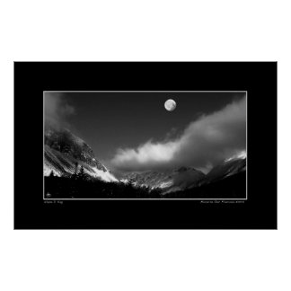 Moonrise Over Franconia Notch Poster