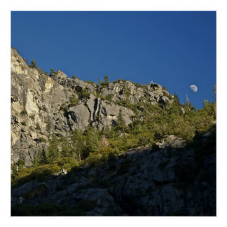 Moonrise over Kings Canyon Poster