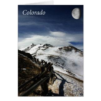 Moonrise over Loveland Pass, Colorado Card