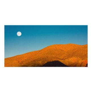 Moonrise over Mojave desert Card