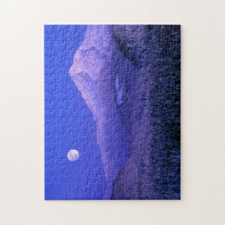 Moonrise over Mt Hood winter, Oregon Jigsaw Puzzle