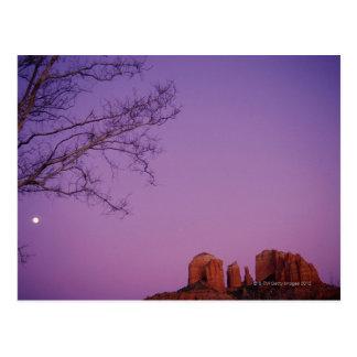 Moonrise Over Oak Creek Canyon Postcard