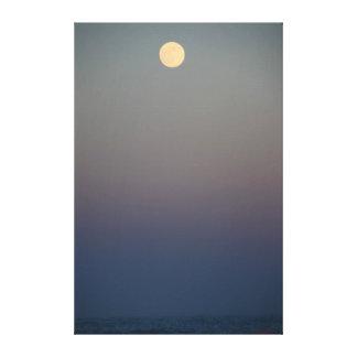 Moonrise Over Ocean #4711 Canvas