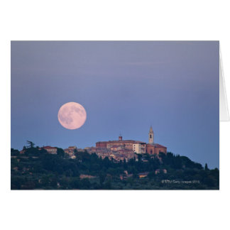 Moonrise over Pienza Card