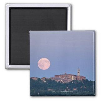 Moonrise over Pienza Magnet