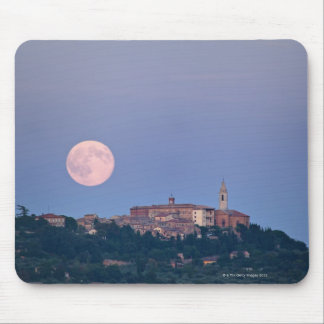 Moonrise over Pienza Mouse Pad