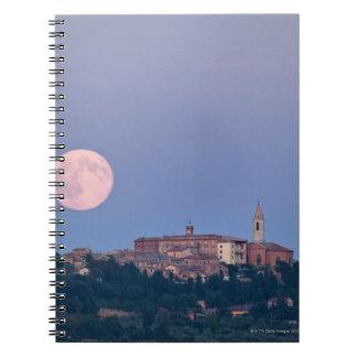 Moonrise over Pienza Notebook