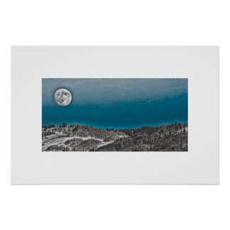 Moonrise Over Steamboat Springs Print