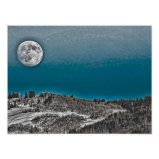 Moonrise Over Steamboat Springs Posters