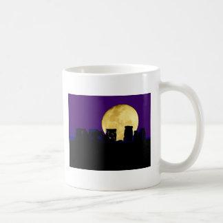 Moonrise over Stonehenge Coffee Mug