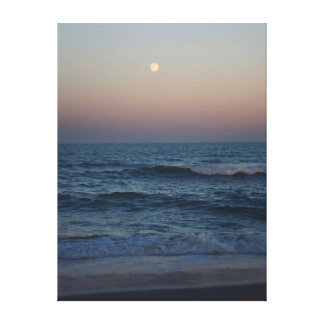 Moonrise Over The Atlantic #4705 Canvas