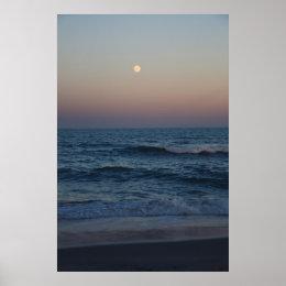 Moonrise Over The Atlantic #4705 Print
