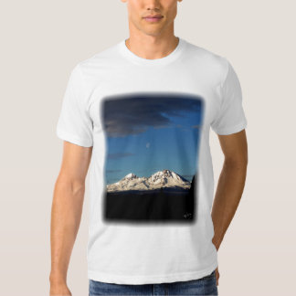 Moonrise over the Cascades Tee Shirts