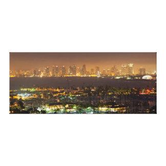 Moonrise over the San Diego skyline Canvas Print