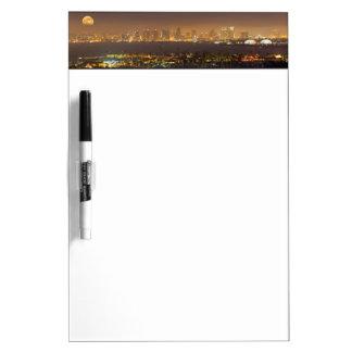 Moonrise over the San Diego skyline Dry-Erase Whiteboard
