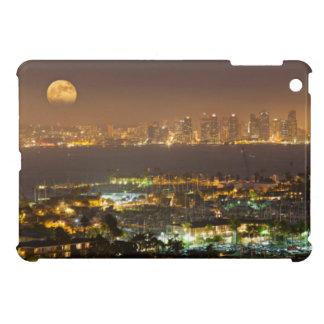 Moonrise over the San Diego skyline iPad Mini Covers