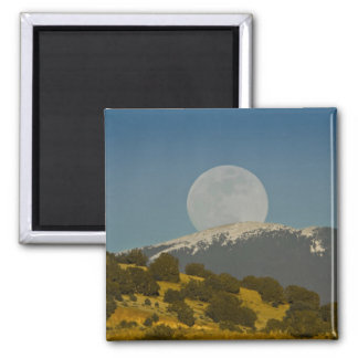 Moonrise over the Sangre de Cristo Mountains, 2 Inch Square Magnet