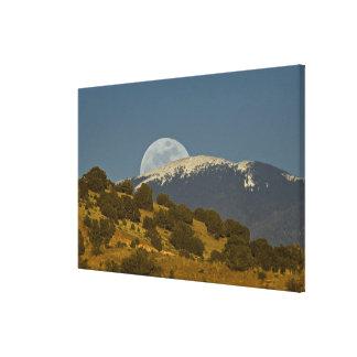Moonrise over the Sangre de Cristo Mountains, Canvas Print