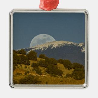 Moonrise over the Sangre de Cristo Mountains, Metal Ornament