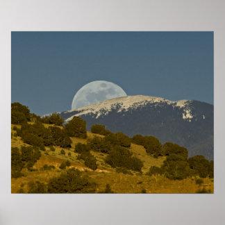 Moonrise over the Sangre de Cristo Mountains, Poster