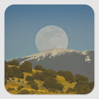 Moonrise over the Sangre de Cristo Mountains, Square Stickers
