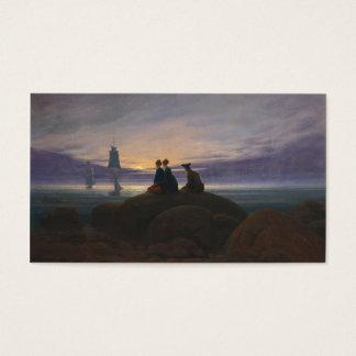 Moonrise over the Sea - Caspar David Friedrich Business Card