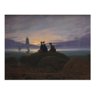 Moonrise Over the Sea Postcard