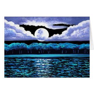 Moonrise over Wingaersheek 2 Card