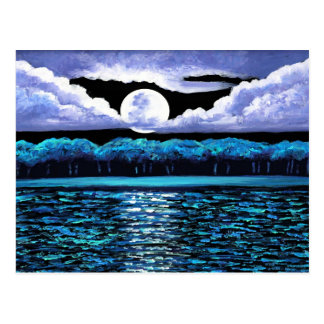 Moonrise over Wingaersheek 2 Postcard