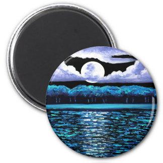 Moonrise over Wingaersheek 2 Refrigerator Magnet