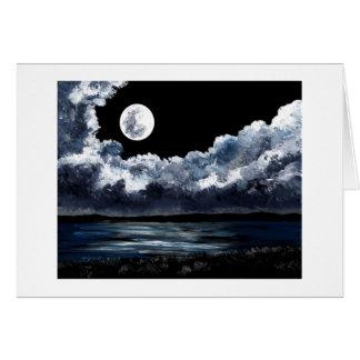 Moonrise Over Wingaersheek Beach Card