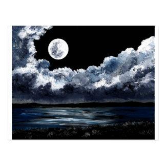 Moonrise Over Wingaersheek Beach Postcard