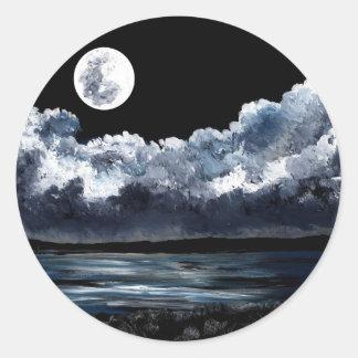 Moonrise Over Wingaersheek Beach Classic Round Sticker