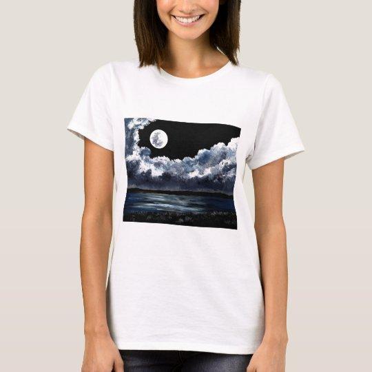Moonrise Over Wingaersheek Beach T-Shirt
