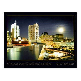 Moonrise Over Yerba Buena Gardens Postcard