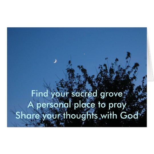 Moonrise Sacred Grove Card