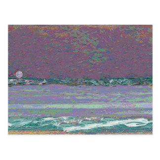 Moonrise Seascape Postcard