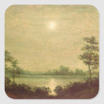 Moonrise Square Stickers
