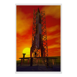 Moonrocket Print
