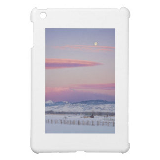 Moons and Sunrise in Colorado Winter Landscape iPad Mini Cases