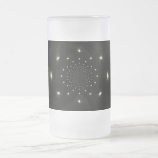 Moons Frosted Glass Beer Mug
