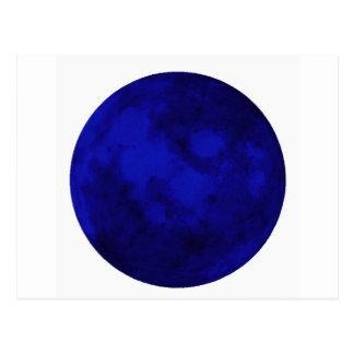 Moonscape azul tarjetas postales