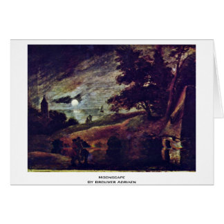 Moonscape By Brouwer Adriaen Greeting Card