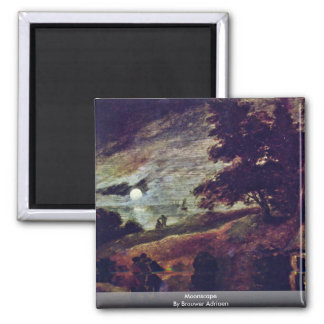 Moonscape By Brouwer Adriaen Fridge Magnets