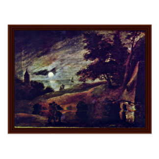Moonscape By Brouwer Adriaen Postcard