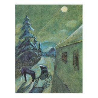 Moonscape con el caballo de Gualterio Gramatte Tarjetas Postales