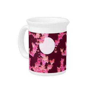 Moonscape con las mariposas - rosa, Borgoña Jarron