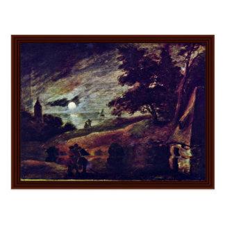 Moonscape de Brouwer Adriaen Tarjetas Postales