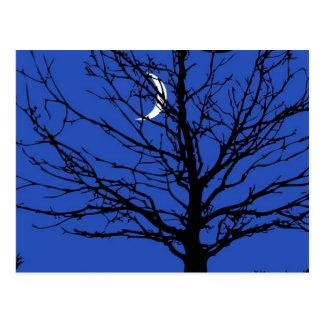 Moonscape en azul y negro de cobalto postales