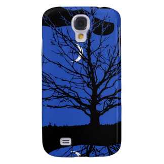 Moonscape in Cobalt Blue and Black Samsung Galaxy S4 Case